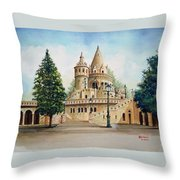Fisherman Castle Throw Pillow
