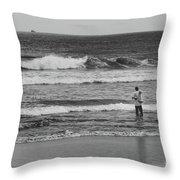 Fisherman - Costa Del Sol - El Salvador Bnw V Throw Pillow