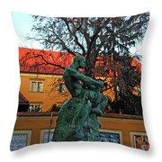 Fisherman Fight, Zagreb  Throw Pillow