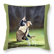 Fisherman II Throw Pillow