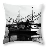 Fisherman's Boat Throw Pillow