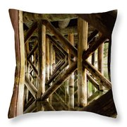 Fishermans Bridge Throw Pillow
