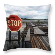 Fishermans Dock Throw Pillow