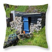 Fisherman's Hut Priest's Cove Cape Cornwall Throw Pillow