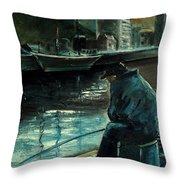 Fisherman's Patience Throw Pillow
