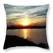 Fisherman's Sunset Horizon Throw Pillow