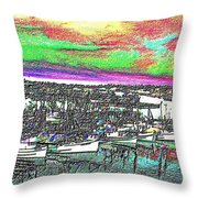 Fishermans Terminal 2 Throw Pillow