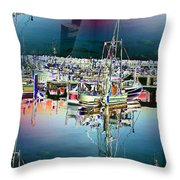 Fishermans Terminal 3 Throw Pillow