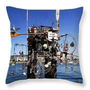 Fisherman's Wharf Throw Pillow