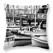Fishermans Wharf Throw Pillow
