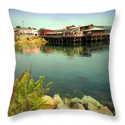 Fishermans Wharf Monterey Ca II Throw Pillow