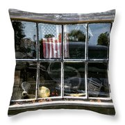 Fishermans Window. Lobster Shack Window Throw Pillow