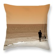 Fishermen Relax Throw Pillow