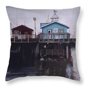 Fishermen Respite Throw Pillow