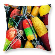 Fishermen's Floats Throw Pillow