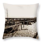 Fishermens Nets On Del Monte Beach Throw Pillow
