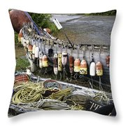 Fishermen's Supplies Throw Pillow