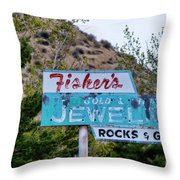 Fisher's Jewelry Throw Pillow