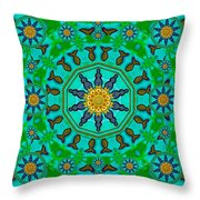 Fishes In Freedom Under The Sun Throw Pillow