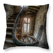 Fisheye Stairs Throw Pillow