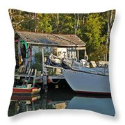 Fishhut And Invictus Throw Pillow
