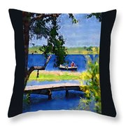 Fishin Throw Pillow