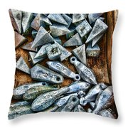 Fishing - Box Of Sinkers Throw Pillow