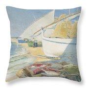 Fishing 1895 Throw Pillow