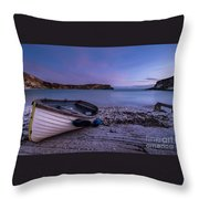 Fishing After Hours Throw Pillow