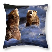 Fishing Alaska Throw Pillow