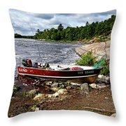 Fishing And Exploring Throw Pillow