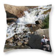 Fishing Anyone Throw Pillow