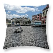 Fishing At The Boardwalk Before The Storm Throw Pillow