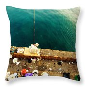 Fishing Beirut  Throw Pillow