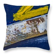 Fishing Boat Abstract Throw Pillow