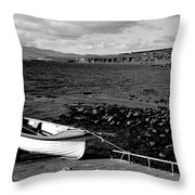 Fishing Boat Throw Pillow