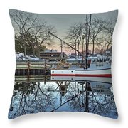 Fishing Boat At Newburyport Throw Pillow