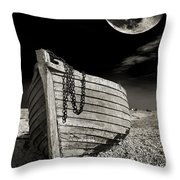 Fishing Boat Graveyard 3 Throw Pillow by Meirion Matthias