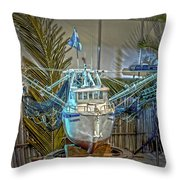 Fishing Boat Hdr 1 Throw Pillow