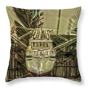 Fishing Boat Hdr 2 Throw Pillow