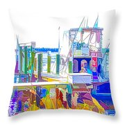Fishing Boats 2 Throw Pillow