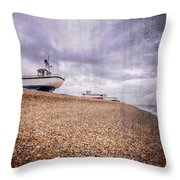 Fishing Boats At Dungeness Throw Pillow