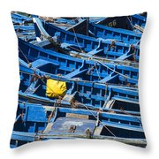 Fishing Boats In Morocco Throw Pillow
