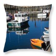 Fishing Boats, Rockport, Ma Throw Pillow