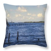 Fishing Cove Throw Pillow
