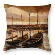 Fishing Cutters  Throw Pillow