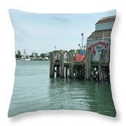 Fishing Dock Throw Pillow