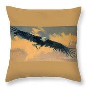 Fishing Eagle Throw Pillow