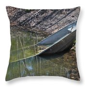 Fishing Fail Throw Pillow