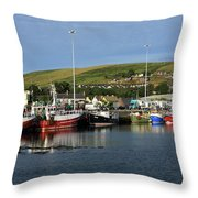 Fishing Fleet At Dingle, County Kerry, Ireland Throw Pillow